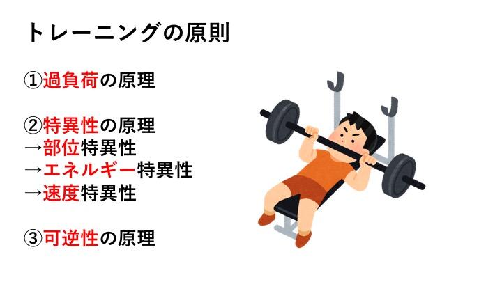 トレーニングの原理